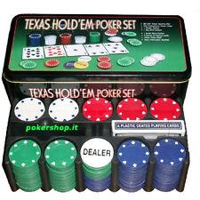 Set completo 200 Fiches 4 grammi Texas Hold'Em-Poker