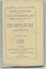 Mirecourt : Les Contemporains CHAMPFLEURY COURBET Rare en Superbe état ! 1870