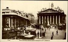 London UK postcard ~1920/30 Royal Exchange showing Bank of England on left