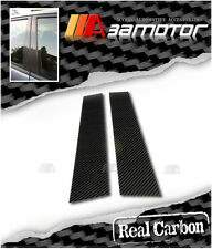Dry Real Carbon Fibre Door Pillar Panel Covers for BMW E36 2D 3-Series Coupe