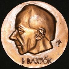 More details for bela bartok 'hungarian composer & pianist' medal | bronze | medals | km coins