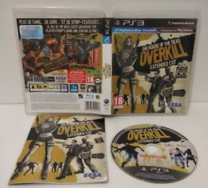 THE HOUSE OF DEAD OVERKILL Extented Cut PS3 Region Free Fr Complet Très bon état