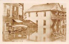 Rutland Vermont~Vintage Car in Water to Window~Apt Bldgs~Nov 4 1927 Flood~RPPC