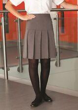 Ladies/girls Size 18 stretch school skirt business skirt fan pleat colour grey
