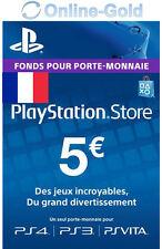 5 EUR Carte PlayStation PSN Network Compte français Code Jeu PS4 PS3 PS Vita FR