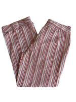 Willi Smith Orange Blue Red Beige Tan Stripe Cuff Long Casual Cotton Pants Sz 10