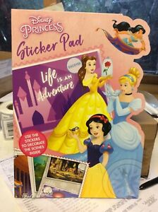 KIDS A4 STICKER PAD STICKERS AND SCENES IDEAL BIRTHDAY,EASTER, XMAS DIS PRINCESS