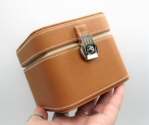 Brown Faux Leather Storage Box - Gift Box - Jewellery Box Case - Monogrammed M