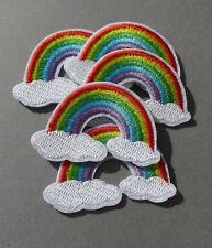5 x Regenbogen - bestickte Bügelbilder - Aufbügler - Flicken - Rainbow