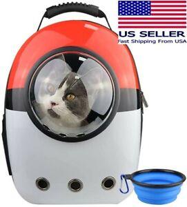 Cat Pet Carrier Travel Backpack Bubble Bag Space Capsule w/ Ventilation Pokemon
