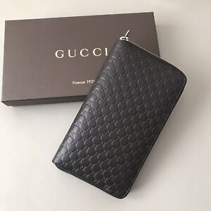 NWT Gucci Micro GG Guccissima Leather Zip Around Large Continental Wallet
