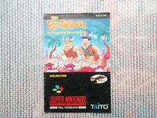 Notice Super nintendo / Snes Flintstones Sierra Madrock PAL Booklet * Bien Lire