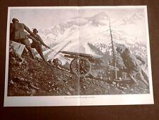 WW1 Prima guerra mondiale 1914-1918 Traino Trentino 1916, vittima neve Sciatori