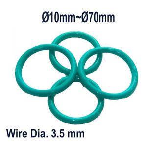 Ø10mm~Ø70mm Wire Dia 3.5 mm Green O-Ring Seals Oil Sealing, Fluororubber O-Ring