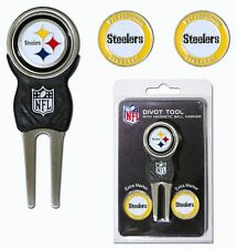 Pittsburgh Steelers Golf Divot Tool with 3 Markers [NEW] NFL Golfing Marker CDG