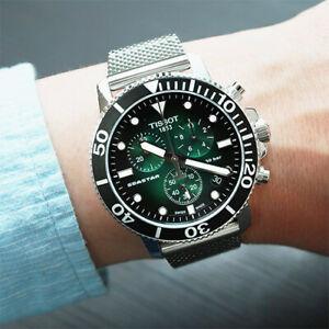 Tissot Seastar T-Sport Chronograph Green Dial Silver Men's Watch T1204171109100