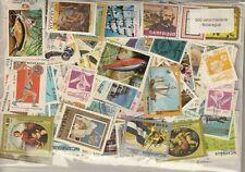 500 verschiedene Briefmarken aus Nicaragua