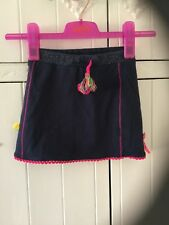 Girl's mim-pi navy embellished embroidered skirt size 5 yrs excellent condition