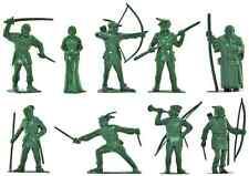 Marx Recast 60mm Robin Hood - 9 Figures in 9 poses - unpainted plastic