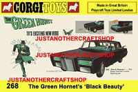 Corgi Toys 268 The Green Hornet A3 Size Poster Advert Shop Sign Leaflet 1967