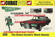 Corgi Toys The Green Hornet 268 A3 Size Poster Advert Shop Sign Leaflet 1967