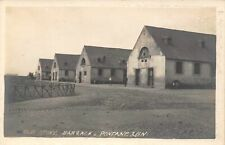 US Army Camp Pontanezen Old Stone Barrack Brest France 1918c Real Photo postcard