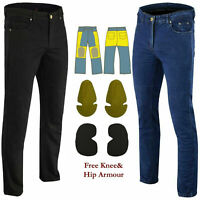Mens Motorcycle Jeans Motorbike Pants Reinforced Jeans Made With DuPont™ Kevlar®
