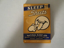 Natural Sleep Aid 10 Individually Wrapped Strips SLEEP SHEETS