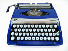 Vintage - Blue - SCM Smith-Corona Calypso - Portable Typewriter - Case