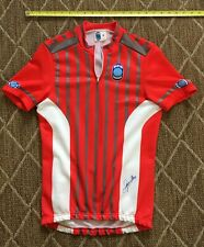 SEB Red Cycling Jersey M, 1980s Vintage made in Italy