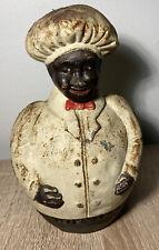 New listing Black Americana Cast Iron Vintage Jolly Chef Baker's Choice BankRare Vintage
