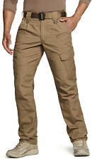 CQR Men's Tactical Pants, Water Repellent Ripstop Cargo Pants, Hiking Work Pants