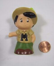Fisher Price Little People BOY SAFARI JUNGLE ZOO GUIDE in Hat w/ BINOCULARS #3