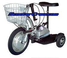 Electric Ev Compact Travel Scooter Mobility Basket Rmb Flex 500 Watt 48 volts Rv