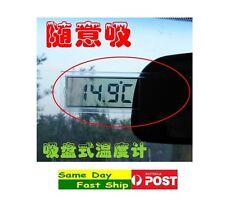 .Digital LCD Car Thermometer w/ sucker Temperature Sensor Indoor Outdoor Home AU