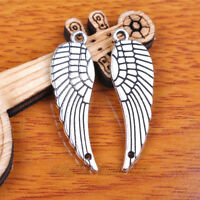 Wholesale 30*9mm Charms Angel Wing Connectors Tibetan Silver Jewelry Findings