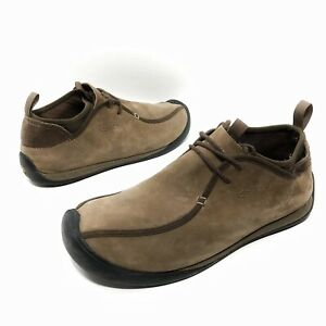 ✅❤️✅@ KEEN SM0508 Mens Suede Leather 12 US 46EUR Brown Lace Up Sock Shoe Casual