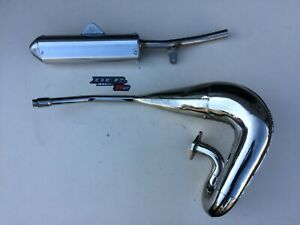YAMAHA DT125R DTR125 1989-2003 DEP PIPES COMPLETE EXHAUST SYSTEM SILENCER DT125