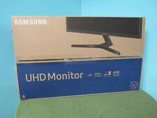 """Samsung - UJ59 Series U32J590UQN 32"""" LED 4K UHD FreeSync Monitor Dark Gray/Blue"""