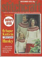 STITCHCRAFT November 1975 vintage sewing magazine knitting fashion craft