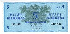 **   FINLANDE     5  markka   1963   p-106Aa    UNC   **