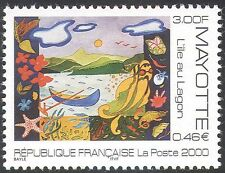 "Mayotte 2000 ""L'ile au Lagon""/Art/Painting/Boat/Nature/Animation 1v (n42774)"