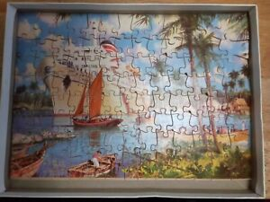 Vintage Tower Press Arundel Wooden Jigsaw Puzzle Rare ~ The Harbour