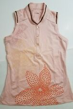Adidas Tennis Shirt Sleeveless Floral Climacool Sport Athletic Gym Golf Pink XS