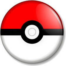 "Pokemon Poke ball 1"" Pin Button Badge Nintendo Card Video Game Pikachu Pokeball"