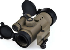 32mm M2 Laser Gun Sight with Reflex Red Green Dot Scope for Picatinny Rail Tan