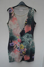 Mesh V Neck Stretch, Bodycon Dresses for Women