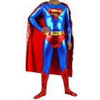 Costume Man Of Steel Adult Superman Halloween Superhero Fancy Dress Cosplay