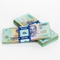1,000,000 Vietnamese Dong Currency   (2) 500,000 VND Banknotes   Free Delivery