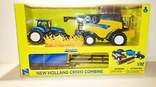 New Holland CR9090 Farm Combine with Tractor & Trailer & Scale Model 1:32 - NEW